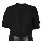 czarny sweter Top Secret z paskiem - jesień-zima 2010/2011