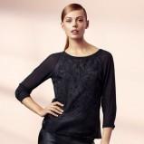 czarny sweterek H&M - zima 2013/14