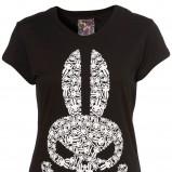 czarny t-shirt Topshop z aplikacją - lato 2011