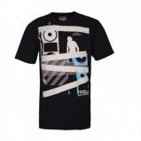 czarny t-shirt Troll z nadrukiem - z kolekcji wiosna-lato 2012