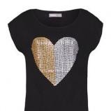 czarny t-shirt Troll z sercem