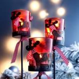 Czarodziejskie świeczniki w kolorze czerwieni  - Boże Narodzenie