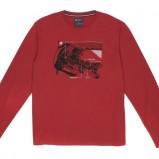 czerwona bluza Carry z nadrukiem - jesień/zima 2011/2012
