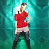czerwona bluzka Bershka - jesień/zima 2011/2012
