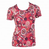 czerwona bluzka Jackpot we wzory - sezon jesienno-zimowy