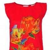 czerwona bluzka Solar w kwiaty - wiosna-lato 2012