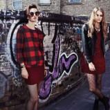 czerwona bluzka Stradivarius w kratkę - trendy 2013