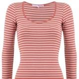 czerwona bluzka Tally Weijl w paski - jesień 2011