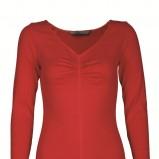 czerwona bluzka Top Secret - jesień/zima