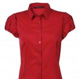 czerwona bluzka Top Secret - sezon jesienno-zimowy