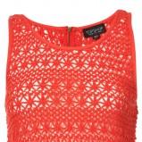 czerwona bluzka Topshop ażurowa - wiosna-lato 2011