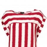 czerwona bluzka Topshop w pasy - z kolekcji wiosna-lato 2011