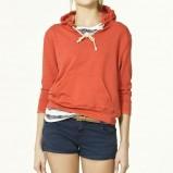 czerwona bluzka ZARA z kapturem - wiosna-lato 2011