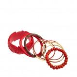 czerwona bransoletka Stradivarius - jesień-zima 2010/2011