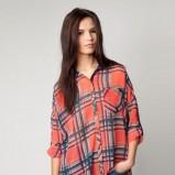 czerwona koszula Bershka w kratkę - moda wiosna/lato