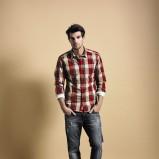 czerwona koszula Cottonfield w kratkę - trendy jesienne