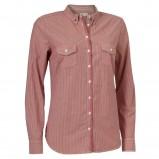 czerwona koszula Jackpot w paski - sezon wiosenno-letni