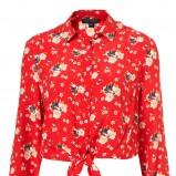 czerwona koszula Topshop we wzory - wiosna-lato 2011