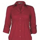 czerwona koszula Troll z rękawem 3/4 - trendy na jesień