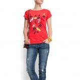 czerwona koszulka Mango z aplikacją - kolekcja wiosenno/letnia