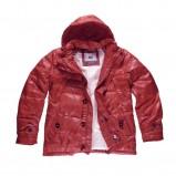 czerwona kurtka Big Star z kapturem błyszcząca - jesień/zima 2011/2012