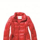 czerwona kurtka C&A z zamkiem błyszcząca - jesień/zima 2011/2012