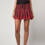 czerwona spódnica Bershka rozkloszowana - lato 2012