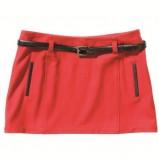 czerwona spódnica C&A mini - kolekcja jesienno-zimowa