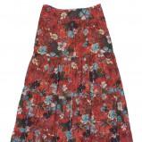 czerwona spódnica C&A w kwiaty - kolekcja wiosenno/letnia