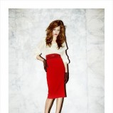 czerwona spódnica Hexeline ołówkowa - jesień/zima 2012/2013