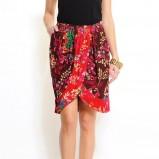 czerwona spódnica Mango w kwiaty - moda wiosna/lato