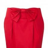 czerwona spódnica Stradivarius z kokardą - z kolekcji wiosna-lato 2011
