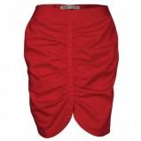 czerwona spódnica Troll asymetryczna - z kolekcji wiosna-lato 2012