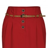czerwona spódnica Troll ołówkowa - jesień 2012