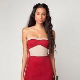 czerwona sukienka Bershka dopasowana - lato 2012