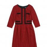 czerwona sukienka Bialcon - trendy na jesień-zimę