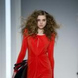 czerwona sukienka F&F - pokaz jesień/zima 2013