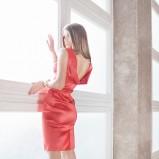 czerwona sukienka Kasia Zapała - z kolekcji wiosna-lato 2012