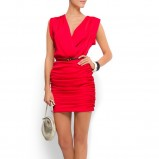 czerwona sukienka Mango - sezon wiosenno-letni