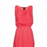 czerwona sukienka Mango w groszki - kolekcja wiosenna