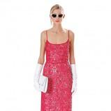 czerwona sukienka Michael Kors koronkowa - lookbook na jesień 2013