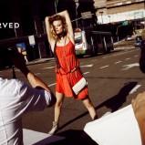 czerwona sukienka Reserved - moda 2011