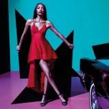 czerwona sukienka River Island asymetryczna - moda na lato