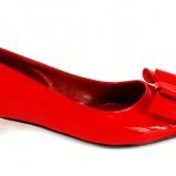 czerwone baleriny Venezia - moda zimowa