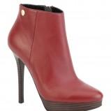czerwone botki Kazar na szpilce - moda 2012/13