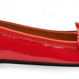 czerwone mokasyny Geox lakierowane - wiosna 2012