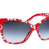 czerwone okulary przeciwsłoneczne Dolce&Gabbana we wzory - wiosna/lato 2012