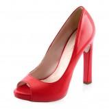 czerwone pantofle Prima Moda fluo - wiosna/lato 2012