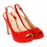 czerwone pantofle Venezia na platformie - wiosna-lato 2011