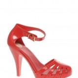 czerwone sandały Asos - moda wiosna/lato